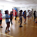 A Zumba class in the Aerobics Room off of the Weight Room in the Dixon Center on September 15th 2010