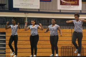 Norristown High school steppers perform at Cabrini's annual step show.
