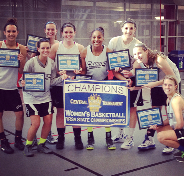 Cabrini women's club basketball won the PIRSA championship last weekend. Club basketball is one of several intramural sports offered at Cabrini. (Amanda Cundari / Submitted Photo)