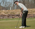 Junior Rob Bass tied for forth overall with a round of 76 (+6) on the 6,312 circuit at Stonewall Golf Club, Tuesday April 16, at 1 p.m. (Cabrini Athletics/Submitted Photo)
