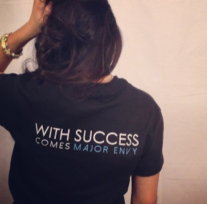 A model showing one of Major Envy's slogans. (Major Envy/Submitted Photo)