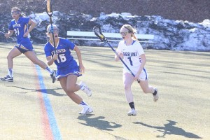 Senior Erin McLaughlin had 7 ground balls in Cabrini's win over Rosemont.  (John Howard/Staff Photographer)