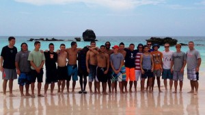 Cabrini men's soccer team travel to Bermuda and visit famous Horseshoe Beach
