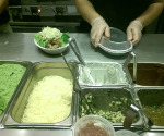 When ordering at Chipotle you are walked down a row of different choices of ingredients. (Marina Haley/Staff Writer)