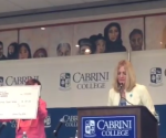 Dr. Colbry speaking at Cabrini Day 2014